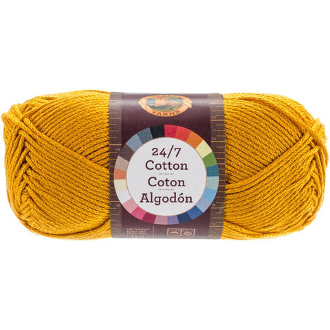 Lion Brand Yarn 761-158 24-7 Cotton Yarn, Goldenrod
