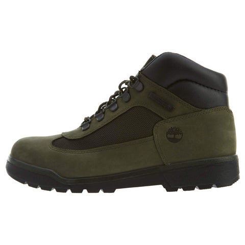 Timberland Field Boot Big Kids Shoes Dark Green tb0a1y8z 6 Big Kid Dark Green Nubuck