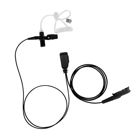 BOMMEOW BCT15-AX 1-Wire Acoustic Clear Tube Earpiece for Motorola Mototrbo DEP550 DEP570 XPR3500 1 Piece