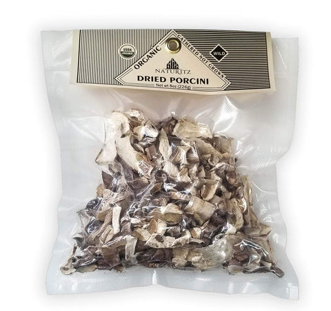 Porcini Dried Mushrooms - Wild | Vacuum sealed | USDA Organic (8 oz) 8 oz
