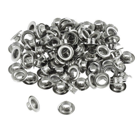 100pc 1/4  Grommets Eyelets for Clothes, Leather, Canvas - Self-Backing Onе Paсk