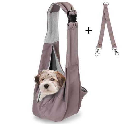 OWNPETS Pet Sling Carrier, Pet Sling Carrier Bag Safe, Comfortable, Reversible,Adustable, Fit Small & Medium Pets, Perfect for Outdoor Activities