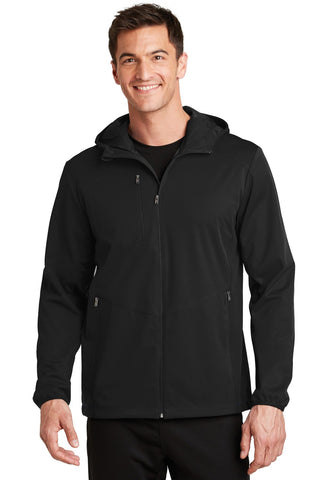 Port Authority Active Hooded Soft Shell Jacket. J719 X-Large Deep Black