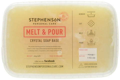 Stephenson STEP-Honey-2PK Melt and Pour Soap Base-4lb, Light Orange Color of Honey