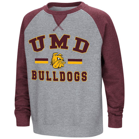 Colosseum Youth Minnesota Duluth Bulldogs Fleece Crewneck Sweatshirt Medium (12/14)