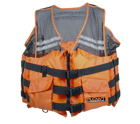 FLOWT Commercial Comfort Mesh Life Vest - USCG Approved Type III PFD 2x Large/3x Large Orange