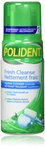 POLIDENT FRESH CLEANSE FOAMING DENTURE CLEANSER 125ML