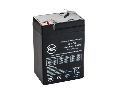 Dual-Lite EZ-2-V 6V 4.5Ah Emergency Light Battery - This is an AJC Brand Replacement