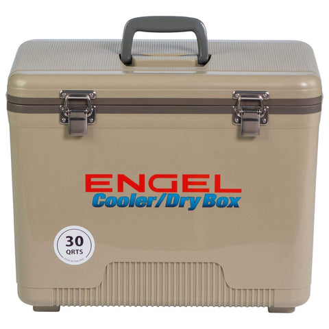 Engel Ultra-Cool UC30 Ultimate Air Tight Ice/Dry Box Cooler, 30-Quart Tan