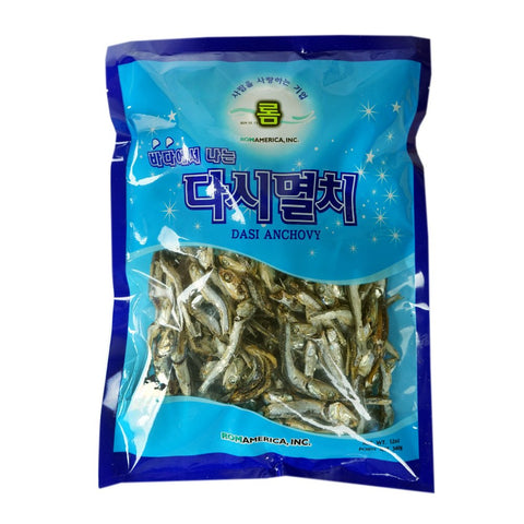ROM AMERICA Korean Large Size Dried Anchovies 12 oz Dasi Anchovy for Soup Stock, 다시멸치