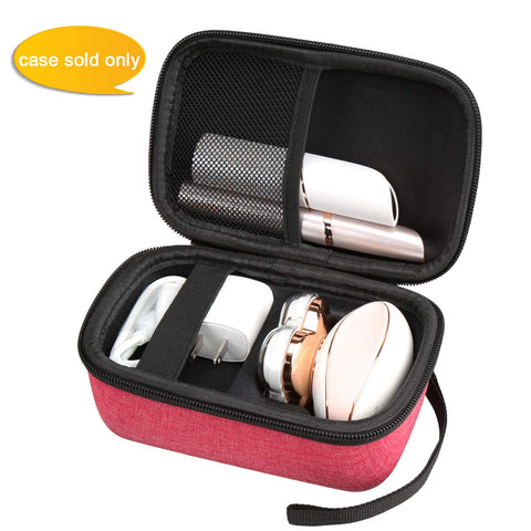 Aproca Hard Travel Storage Case Bag Fit Finishing Touch Flawless Legs Women's Hair Remover (Red) Red