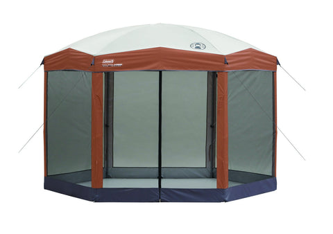Coleman Screened Canopy Tent with Instant Setup | Back Home Screenhouse Sets Up in 60 Seconds 12 X 10 Feet Brown