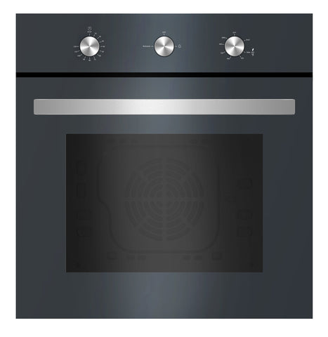 "Empava 24"" Tempered Glass Built-in NG/LPG Convertible Broil/Rotisserie Gas Single Wall Ovens 1500W + 2500W EMPV-24WOD03"
