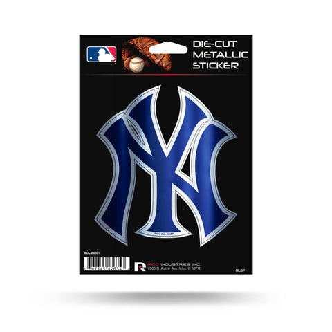 "Rico Industries, Inc. New York Yankees Rico 5"" METALLIC DECAL Die Cut Auto Sticker Emblem Baseball"