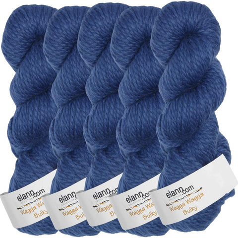 elann Wagga Wagga Bulky Yarn | 5 Ball Bag | 126 Deep Ultra Marine 126 Deep Ultra Marine, L101