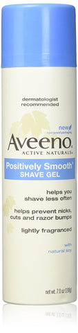 Aveeno Positively Smooth Shave Gel - 7 oz - 2 pk