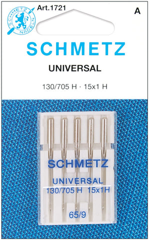 25 Schmetz Universal Sewing Machine Needles 130/705H 15x1H Size 65/9