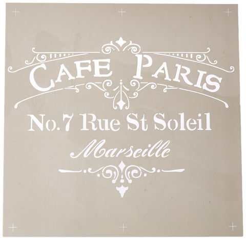 DecoArt ADS-02 Americana Decor Stencil, Cafe Paris Brown