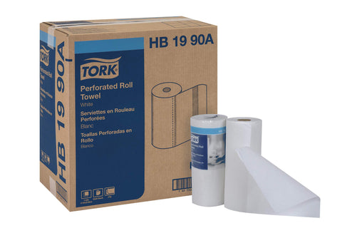 "Tork HB1990A Perforated Paper Roll Towel, 2-Ply, 11"" Width x 9"" Length, White (Case of 30 Rolls, 84 per Roll, 2,520 Towels)"