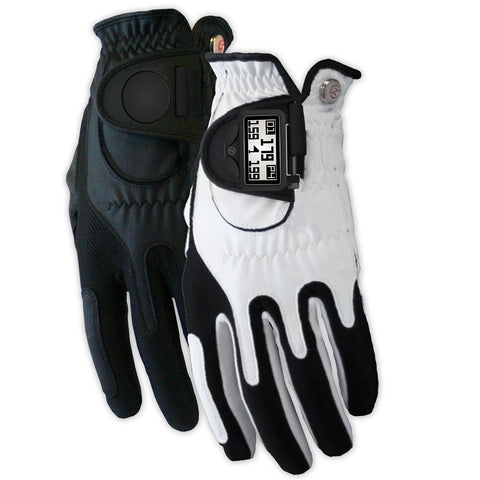 Zero Friction Men's Distance Pro GPS Golf Gloves Worn On Left Hand White/Black