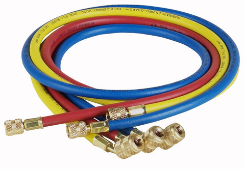 Robinair (69060A) Enviro-Guard Hose Set with 45° Quick Seal Fittings - 60 , Set of 3 60 Inch