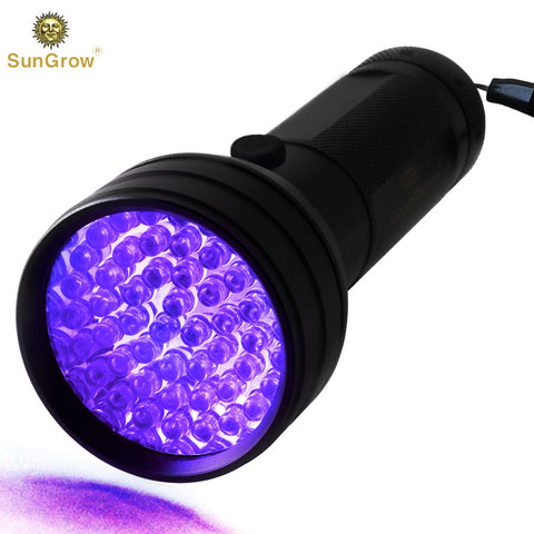 UV Flashlight for Pet Urine - Handheld Super Bright Blacklight for Bed Bugs, Scorpion Hunter – Spots Invisible Stains - 51 LED up to 395nM – Durable Aluminum Alloy Material – Multifunctional Torch