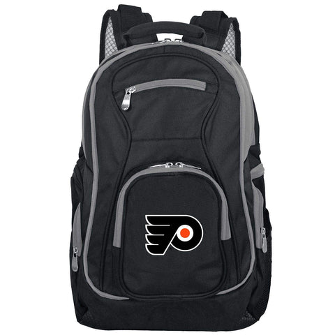 Denco NHL Colored Trim Premium Laptop Backpack, 19-inches Philadelphia Flyers