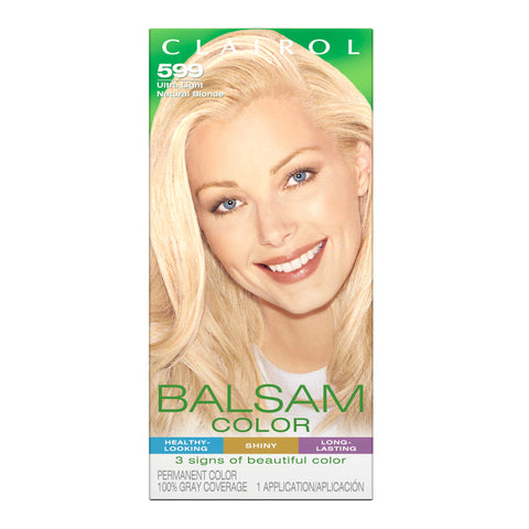 Clairol Balsam Hair Coloring Tools, 599 Ultra Light Natural Blonde Pack of 1