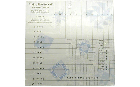 Lazy Girl Flying Geese X 4 No Math Ruler