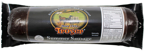 Troyer Summer Sausage, Naturally Smoked, 12 Ounce