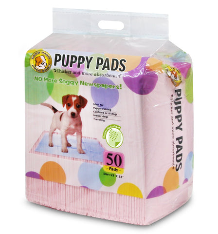 Super Absorbent Puppy Training Pads by Best Pet Supplies 50 PCs/Pack Pink