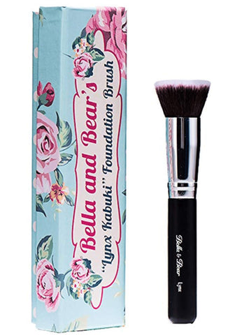 Foundation Brush - Kabuki - Our Professional Flat Stippling Brush Works with Liquid - Mineral and Powder Foundation