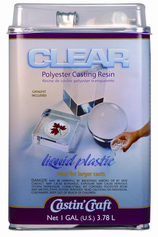 Environmental Technology 128-Ounce with 1/2-Ounce Catalyst Casting' Craft Polyester Casting Resin, Clear gallon