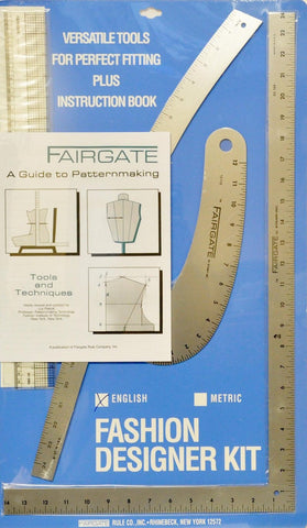 Fairgate Fashion Designers Ruler Kit - Part # 15-102 (Inches) Made in The USA