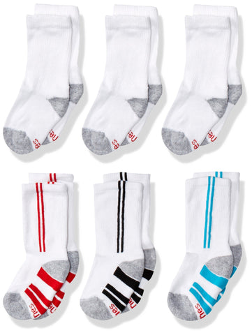 Hanes Boys' Big 12-Pairs Crew Socks Big Boys Large White