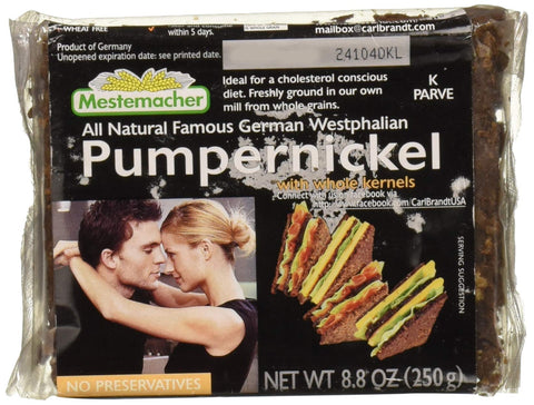 Mestemacher Bread Bread, Westphalian Classic Pumpernickel, Pack of 6