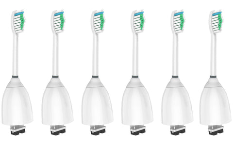WyFun Toothbrush Head For Philips Sonicare,compatible Sonicare E-Series fits Elite, Essence, Advance, CleanCare, Xtreme, eSeries, HX7022, HX7023, HX7026,HX7030 6 pack