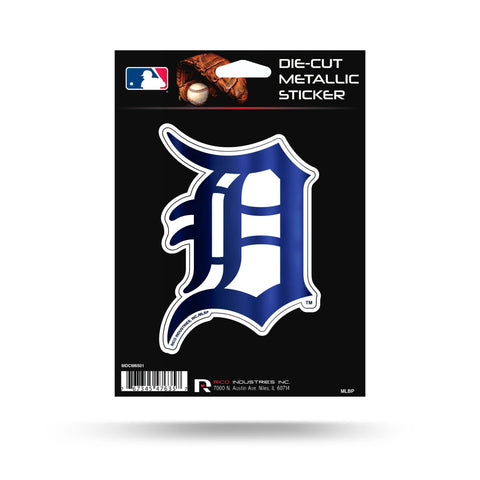 "Rico Industries, Inc. Detroit Tigers Rico 5"" METALLIC DECAL Die Cut Auto Sticker Emblem Baseball"