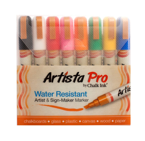 Chalk Ink Artista Pro Marker, 6 mm, Classic, Set of 8