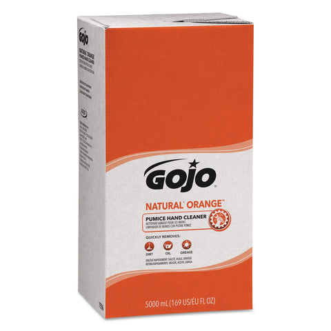 GOJO NATURAL ORANGE Pumice Industrial Hand Cleaner, 5000 mL Quick Acting Lotion Hand Cleaner Refill for GOJO PRO TDX Dispenser (Pack of 2) - 7556-02