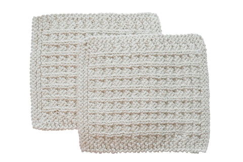 Toockies Hand knit Exfoliating Wash Cloth for  Him  – 100    Certified Organic Cotton His