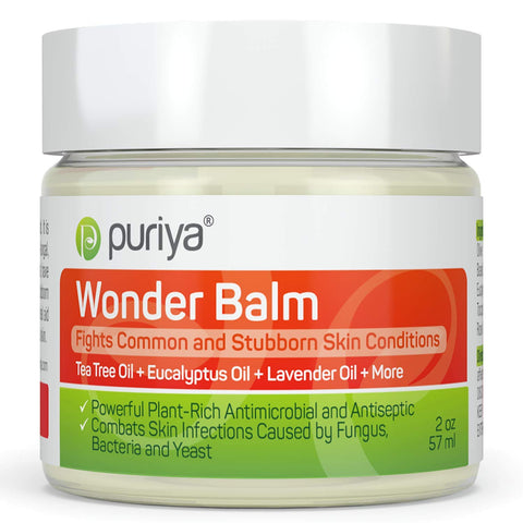 Puriya Tea Tree Oil Balm. Apply on feet, Nails, Groin, Chest. - Award Winning - Trusted by 200K Users - Forms a Skin Defense Layer in Humid Conditions. Use It Before and After Gym, Yoga, Pool, Sauna Regular 2 Ounce