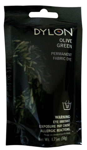 Dylon 87034 Permanent Fabric Dye, Olive Green, 1.75-Ounce