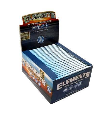 Elements Ultra Thin Rice King Size Rolling Papers 1Case/50-Pack