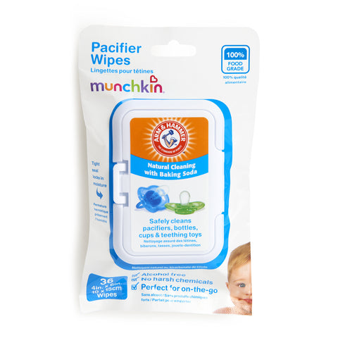 Munchkin 36 Pack Arm and Hammer Pacifier Wipes, White 36 Count