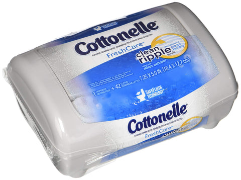 Cottonelle Fresh Folded Moist Wipes 4 Tubs of 42