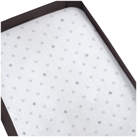 aden by aden + anais Pack 'n Play Playard Crib Sheet, 100% Cotton Muslin, Super Soft, Breathable, Snug Fit Dove