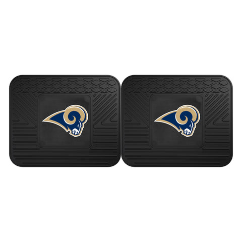 FANMATS NFL Los Angeles Rams Vinyl 2-Pack Utility Mats Rear (Pack of 2)