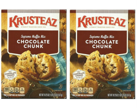 Krusteaz Supreme Muffin Mix Chocolate Chunk 18.25 oz ( 2 PACK)