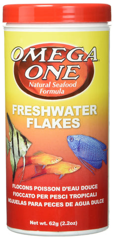 OMEGA 01411 1 One Freshwater Flake 2.2oz, Yellow (packaging may vary)